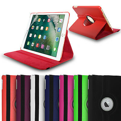 Apple iPad 9.7 2017 Case Premium Leather 360 Degree Rotating Stand Case Cover SP