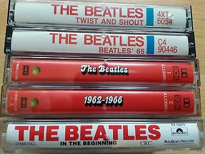 The Beatles Lot of 5 Cassettes Very Good Condition Tested