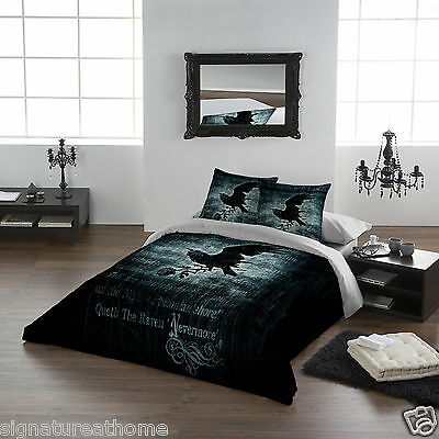 "Gothic Nevermore Super King king size duvet cover set USA102""x 86"" UK 260 x220cm"