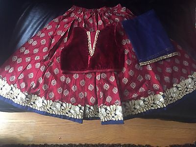 kids girls indian pakistani lehenga choli  anarkali ethnic