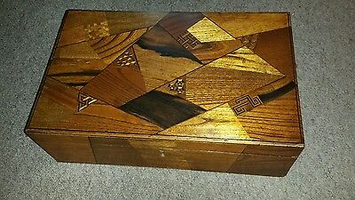 19th Century Oriental Inlaid Writing Slope. 16 inches x 10 x 5. Secret Drawer