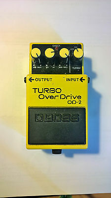Boss Od-2 Turbo Overdrive - Early Taiwan Prod. 1990 - Ready For Psa Adaptor