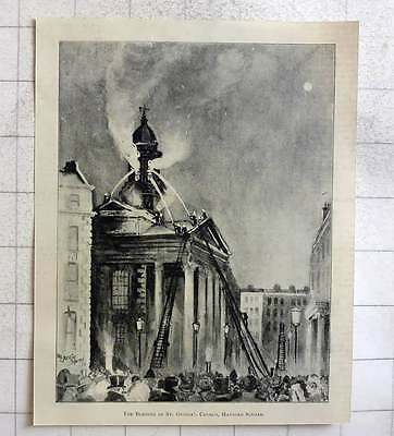 1897 The Burning Of St. George's Church Hanover Square