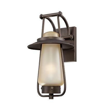 Outdoor Wall Lantern Home Porch Entryway Backyard Balcony Stained Frosted Glass