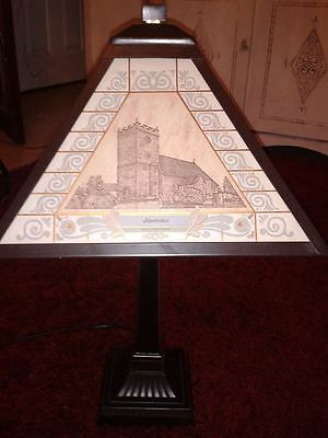 Welsh Lamp hand made,unusual,rare 13/100,18ct gold engraving Abertridwr, gift