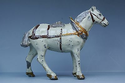 CHERILEA VINTAGE LEAD FARM SERIES: CART HORSE in HARNESS - GREY Variant...!!