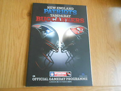 Nfl Wembley 2009 New England Patriots V Tampa Bay Buccaneers Official Programme