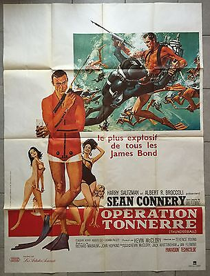 Affiche OPERATION TONNERRE Thunderball SEAN CONNERY Claudine Auger R120x160cm