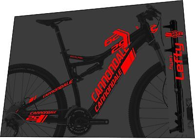 Cannondale Scalpel F29 Frame And Fork Decal Set