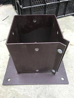 """6"""" x 6 """" 150 x 150mm Bolt Down Fence Post Support Holder Shoe Like Met Post"""