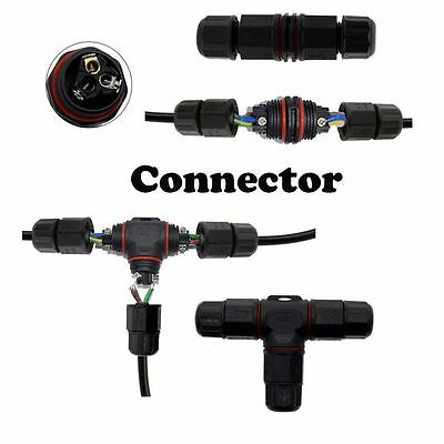 IP67 Durable Cable T/Straight Shape Outdoor Lighting Connectors Waterproof