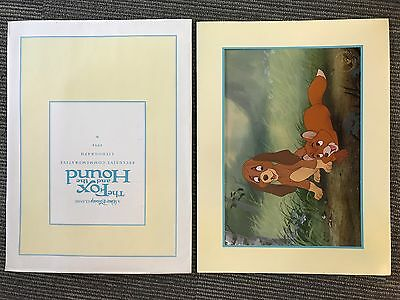 Disney Store Lithograph FOX AND THE HOUND 1994 12X16 Litho w/ Mat & Envelope