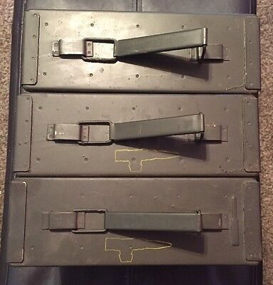 .30 Cal Ammo Box Military, Lot Of 3 1975