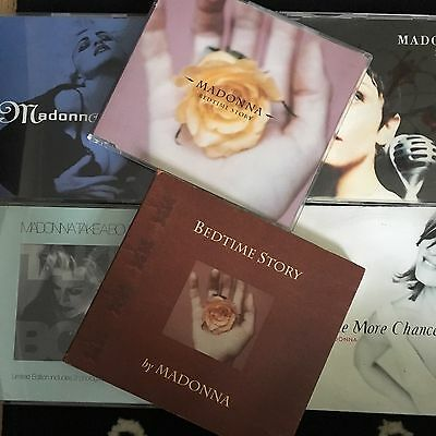 Madonna Cd Lot Rain Rescue Me Take A Bow One More Limited Poster