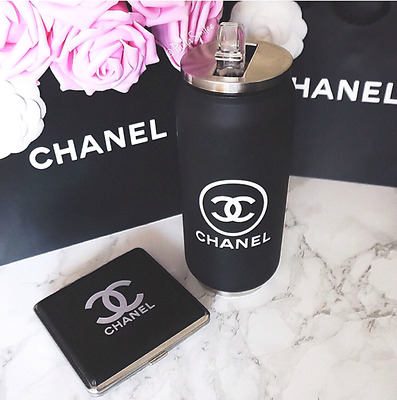 NEW Chanel VIP Gift Coffee Drink Protein Shaker Travel Thermo Cup Mug NEW 3PCS