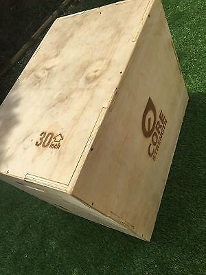 Core Strength 3-in-1 Wooden Plyo Box, Flat Packed