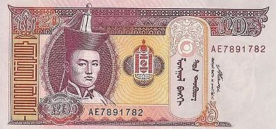 Mongolia P-63d 2007 Note 20 tugrik World Paper Money Banknote incirculated CA