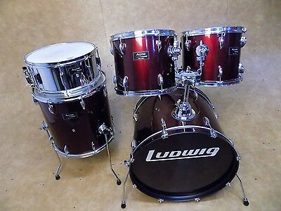 Ludwig Accent 5pc Drum Kit Shell Pack Red
