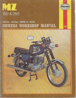 Mz Es150/1 Ts150 Es250/2 Ets250 Ts250 Ts250 Sports 1969 - 1979 Workshop Manual