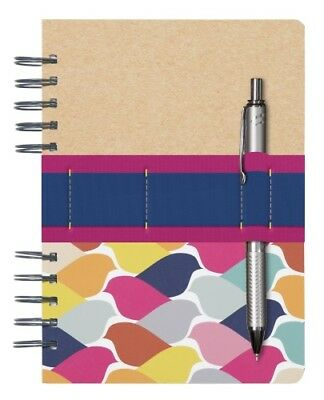 C.r. Gibson Journal Flock Of Color Stationery Diary Birds Pen Spiral Notebook