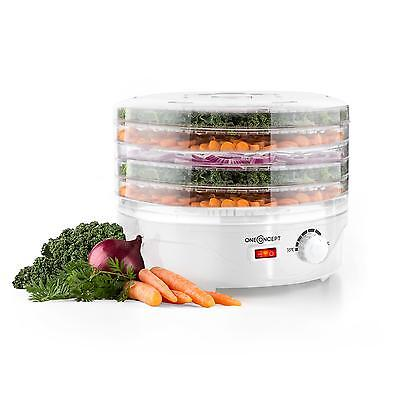Powerful 5 Tier Food Dehydrator Fruits Dryer Machine Vegetables Meat 250 W White