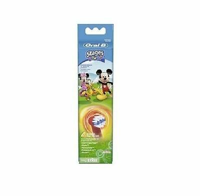 Oral B Power Stages 4 Refill Heads Mickey - 2 Pack