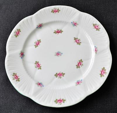 "Vintage SHELLEY Bone China England ROSEBUD Dainty Pattern #13426 8 1/4"" Plate"