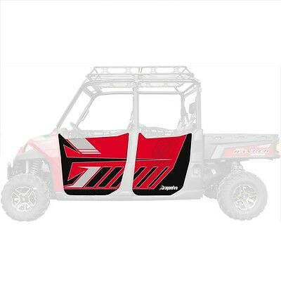 DragonFire Door Graphics Polaris Ranger XP 900 Crew 2013-2015 Sunset Red