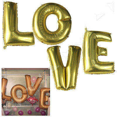 40 Gold Silver Large Foil Letter Number Balloons Birthday Wedding