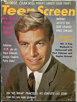 Teen Screen Magazine December 1963- Jim Franciscus- Cindy Carol- Troy Donahue