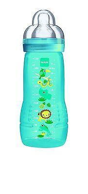 MAM 4+ Months 330ml Baby Bottle Blue Animals