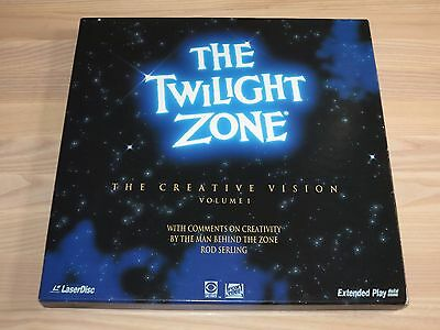 THE TWILIGHT ZONE LASERDISC LD 4 DISC BOX - THE CREATIVE VISION VOLUME 1 in MINT