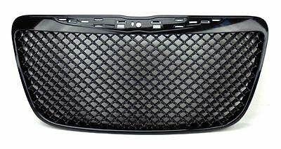 Chrysler 300 300C 2011-2014 Black Bentley Style Front Center Grill