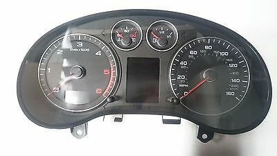 Audi A3 8P Diesel Automatic Speedo Head Instrument Cluster  08-12