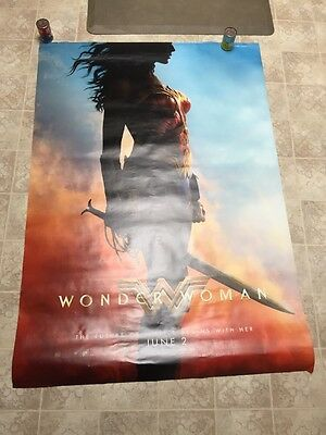 WONDER WOMAN Silhouette Gal Gadot DC Comics 4x6 Bus Shelter Poster Double Sided