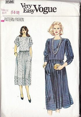 ~ Vintage Very Easy VOGUE Sewing Pattern 8586 Misses' Top & Skirt Size 6-10 ~