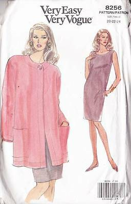 ~Very Easy VOGUE Sewing Pattern 8256 Jacket & Dress Size 20-24~