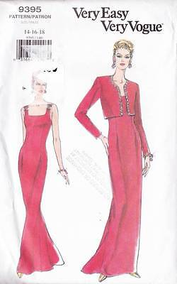 ~Very Easy VOGUE Sewing Pattern 9395 Jacket & Dress/Gown UNCUT S14-18~