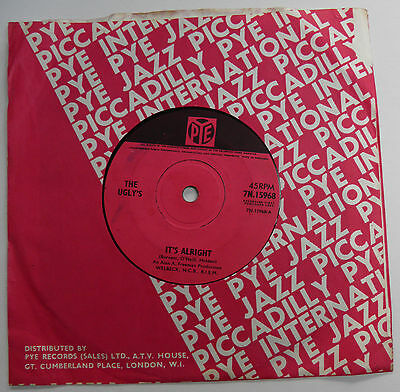 "The Ugly's-It's Alright-UK Pye Vinyl 7""-60s Mod Freakbeat Garage-1965-HEAR"