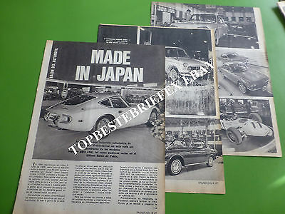 Honda Toyota Nissan Japanese Cars In 1 Rare Article Note 1966 Arg In Spanish