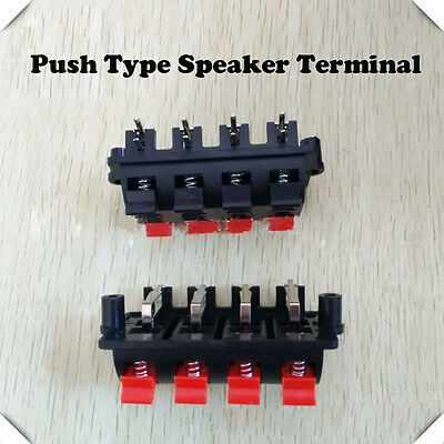 3PCS Jack Spring 8 Positions Double Row Connector Audio Speaker Terminal