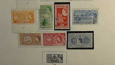 Bermuda stamp collection on Minkus pages to '89
