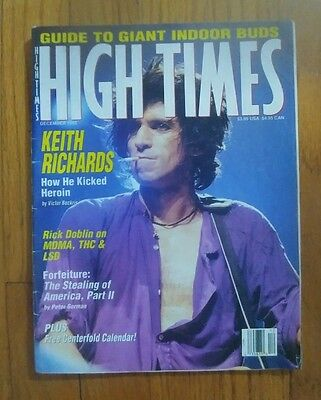 """High Times Magazine Dec.1992 Featuring Keith Richards,""""How He Kicked Heroin"""""""