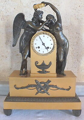 clock bronze golden after Michallon work Thomire