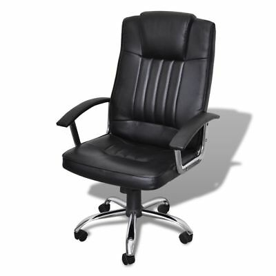 Executive Premium Office Chair PU Faux Leather Swivel Adjustable Padded Black