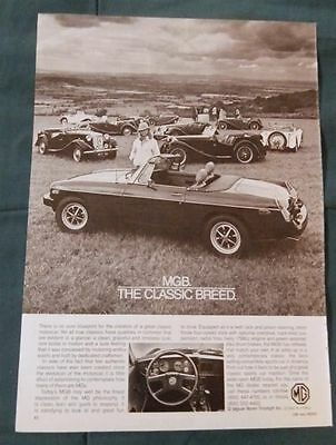 VINTAGE MAGAZINE PAGE VG CONDITION B/W 1970's MGB HERITAGE AD