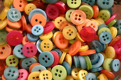 100 SMALL CITRUS Buttons New - Great for Sewing Craft Scrapbooking & more