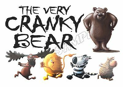 The Very Cranky Bear - Iron On Transfer Or Sticker - Book Week Costume Dress Up