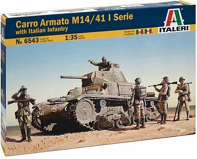 Italeri 1:3 5 6543: Carro Armato M14/41 L SERIES - with Italian Infantry