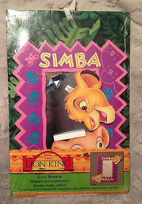 Vintage The Lion King Simba Nala Nursery Kids Room Decor Wooden Wall Mirror